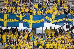 June 16, 2017 - Kielce, POLEN - 170616 Sveriges supportrar under fotbollsmatchen i U21-EM mellan Sverige och England den 16 juni 2017 i Kielce  (Credit Image: © Johanna Lundberg/Bildbyran via ZUMA Wire)