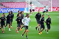 Groupe PSG - 20.04.2015 - Entrainement du Paris Saint Germain  - Champions League<br />Photo : Dave Winter / Icon Sport