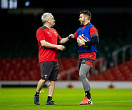 Rhys Webb of Wales<br /> <br /> Photographer Simon King/Replay Images<br /> <br /> Six Nations Round 1 - Wales v Italy -  Captains Run - Friday 31st January 2020 - Principality Stadium - Cardiff<br /> <br /> World Copyright © Replay Images . All rights reserved. info@replayimages.co.uk - http://replayimages.co.uk