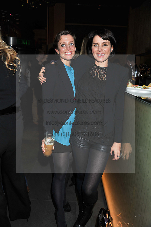 """Left to right, LISA DAWN and SADIE FROST at a party to celebrate the launch of Meg Matthews' blog - """"Meg says"""" at the bar at Ni Ju San, 23 St.James's Street, London on 1st December 2011."""