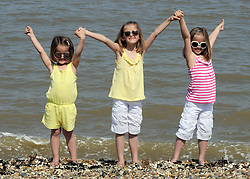 ©  licensed to London News Pictures. Sheerness, UK.19/04/2011. Sunny weather at Minster Leas Beach in Sheerness today (19 April 2011) see special instructions for usage rates. Picture credit should read Grant Falvey/LNP.
