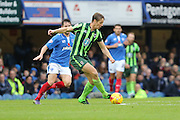 Paul Robinson of AFC Wimbledon had a busy time of it on his return to Fratton Park during the Sky Bet League 2 match between Portsmouth and AFC Wimbledon at Fratton Park, Portsmouth, England on 15 November 2015. Photo by Stuart Butcher.