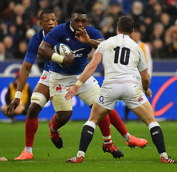 France's Demba Bamba during the Six Nations rugby union tournament match between France and England at the stade de France, in Saint Denis, on the outskirts of Paris, on February 2, 2020. Photo by Christian Liewig /ABACAPRESS.COM