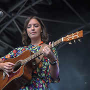 Lucy May Walker performs at the International Busking Day is returning to Wembley Park on 20 July 2019, London, UK.