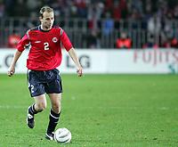Fotball / Soccer<br /> Play off VM 2006 / Play off World Champio0nships 2006<br /> Tsjekkia v Norge 1-0<br /> Czech Republic v Norway 1-0<br /> Agg: 2-0<br /> 16.11.2005<br /> Foto: Morten Olsen, Digitalsport<br /> <br /> Jon Inge Høiland - Malmø FF