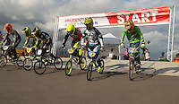 LONDON UK 29TH JULY 2016:  BMX Finals. Prudential RideLondon BMX Grand Prix at the London Velo Park. Prudential RideLondon in London 29th July 2016<br /> <br /> Photo: Bob Martin/Silverhub for Prudential RideLondon<br /> <br /> Prudential RideLondon is the world&rsquo;s greatest festival of cycling, involving 95,000+ cyclists &ndash; from Olympic champions to a free family fun ride - riding in events over closed roads in London and Surrey over the weekend of 29th to 31st July 2016. <br /> <br /> See www.PrudentialRideLondon.co.uk for more.<br /> <br /> For further information: media@londonmarathonevents.co.uk