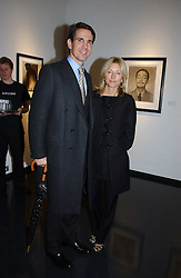 CROWN PRINCE PAVLOS and PRINCESS MARIE CHANTAL OF GREECE at an exhibition of late photographer Horst entitled 'Horst Platinum' at the Hamiltons Gallery, 13 Carlos Place, London on 28th November 2006.<br />