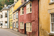 Historic row of houses in Patford Street, Calne, Wiltshire, England, UK