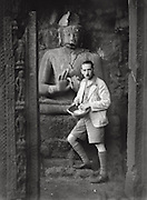 E.O. Hoppé and Buddha, Ajanta Caves, India; 1929