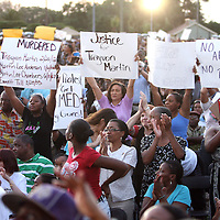 Thousands of supporters and City of Sanford residents show support during a rally for the shooting of Trayvon Martin on Thursday,March 22, 2012 at Fort Mellon Park in Sanford, Florida. (AP Photo/Alex Menendez) Trayvon Martin rally in Sanford, Florida.