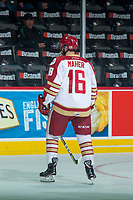 REGINA, SK - MAY 22: Jordan Maher #16 of Acadie-Bathurst Titan skates during warm up against the Hamilton Bulldogs at the Brandt Centre on May 22, 2018 in Regina, Canada. (Photo by Marissa Baecker/CHL Images)