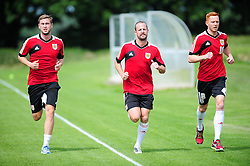 Bristol City's Steven Davies, Louis Carey and Stephen Pearson - Photo mandatory by-line: Dougie Allward/JMP - Tel: Mobile: 07966 386802 27/06/2013 - SPORT - FOOTBALL - Bristol -  Bristol City - Pre Season Training - Npower League One
