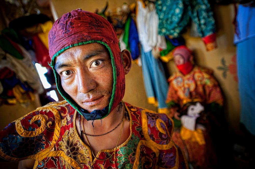 Asia, Tibet, Bhutan, Jakar, TangBimani, monk, peroformer, actor