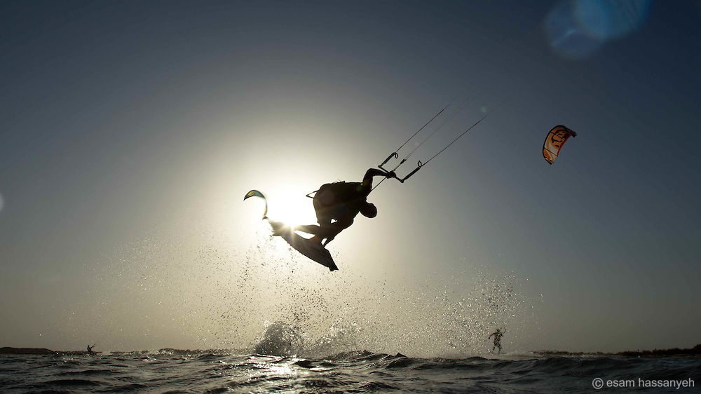 Kite surfer, Oman