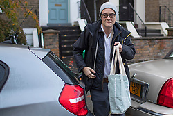 © Licensed to London News Pictures. 04/11/2019. London, UK. Special adviser to the Prime Minister Dominic Cummings leaves his London home. Photo credit: George Cracknell Wright/LNP