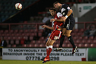 Picture by David Horn/Focus Images Ltd +44 7545 970036.21/08/2012.Michael Symes of Leyton Orient and Jon Ashton of Stevenage during the npower League 1 match at the Matchroom Stadium, London.