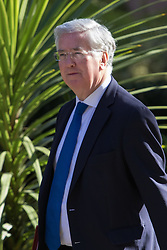 Downing Street, London, May 3rd 2016. Defence Secretary Michael Fallon arrives at 10 Downing Street for the weekly cabinet meeting. &copy;Paul Davey<br /> FOR LICENCING CONTACT: Paul Davey +44 (0) 7966 016 296 paul@pauldaveycreative.co.uk