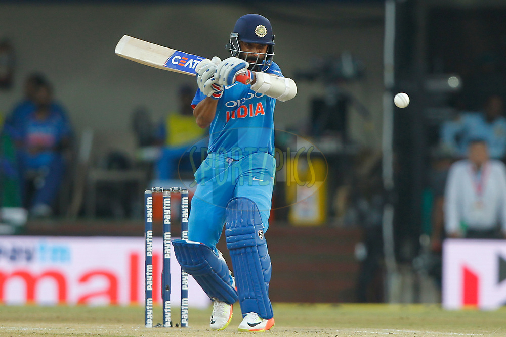 Ajinkya Rahane of India bats during the 3rd One Day International between India and Australia held at the Holkar Stadium in Indore on the 24th  September 2017<br /> <br /> Photo by Deepak Malik / BCCI / SPORTZPICS