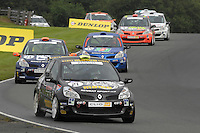 2007 ELF Renault Clio Cup.  Oulton Park, Cheshire, United Kingdom.  23rd-24th June 2007. (21) Stefan Hodgetts - Momo UK, (14) Ed Pead - Mardi Gras Motorsport, (34) Martin Byford - Z Speed Racing. World Copyright: Peter Taylor/PSP. Copy of publication required for printed pictures. Every picture used is fee-liable.