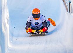 17.01.2020, Olympia Eiskanal, Innsbruck, AUT, BMW IBSF Weltcup Bob und Skeleton, Igls, Skeleton, Herren, 2. Lauf, im Bild Alexander Gassner (GER) // Alexander Gassner of Germany reacts after his 2nd run of men's Skeleton competition of BMW IBSF World Cup at the Olympia Eiskanal in Innsbruck, Austria on 2020/01/17. EXPA Pictures © 2020, PhotoCredit: EXPA/ Stefan Adelsberger