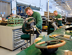 UK ENGLAND CREWE 5APR06 - Workers hand-produce and assemble steering wheels at the Bentley Factory in Crewe...jre/Photo by Jiri Rezac..© Jiri Rezac 2006..Contact: +44 (0) 7050 110 417.Mobile:  +44 (0) 7801 337 683.Office:  +44 (0) 20 8968 9635..Email:   jiri@jirirezac.com.Web:    www.jirirezac.com..© All images Jiri Rezac 2006 - All rights reserved.