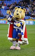 Reading mascot during the Sky Bet Championship match between Reading and Blackburn Rovers at the Madejski Stadium, Reading, England on 20 December 2015. Photo by Andy Walter.