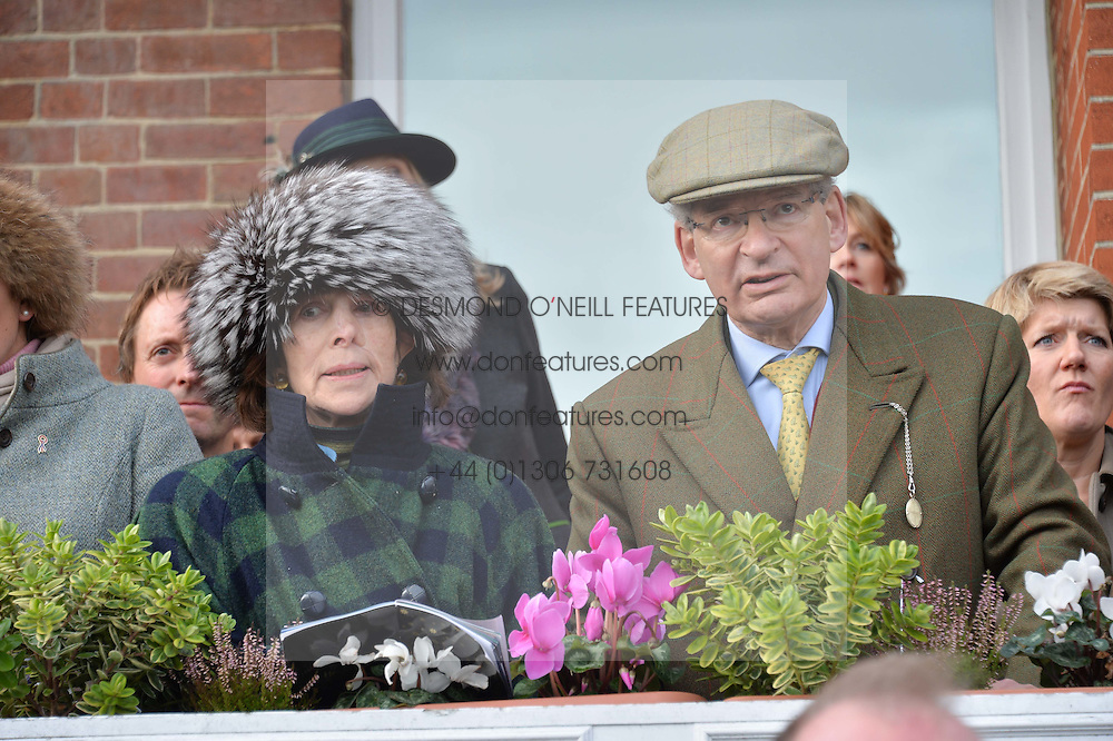 ROBERT & the HON.MRS WALEY-COHEN at the 2015 Hennessy Gold Cup held at Newbury Racecourse, Berkshire on 28th November 2015.