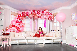 """Tamara Ecclestone releases a photo on Instagram with the following caption: """"Thank you @peppermintballoons for our beautiful Valentine\u2019s Day set up. Love this shoot a surprise for Daddy check out the rest of the pics in this weeks @hellomag \u2764\ufe0f"""". Photo Credit: Instagram *** No USA Distribution *** For Editorial Use Only *** Not to be Published in Books or Photo Books ***  Please note: Fees charged by the agency are for the agency's services only, and do not, nor are they intended to, convey to the user any ownership of Copyright or License in the material. The agency does not claim any ownership including but not limited to Copyright or License in the attached material. By publishing this material you expressly agree to indemnify and to hold the agency and its directors, shareholders and employees harmless from any loss, claims, damages, demands, expenses (including legal fees), or any causes of action or allegation against the agency arising out of or connected in any way with publication of the material."""