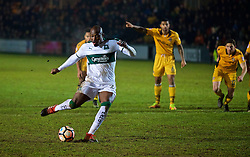 NEWPORT, WALES - Wednesday, December 21, 2016: Plymouth Argyle's Paul Garita sees his penalty saved against Newport County during the FA Cup 2nd Round Replay match at Rodney Parade. (Pic by David Rawcliffe/Propaganda)