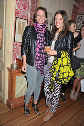 Left to right, SAFFRON ALDRIDGE and AMANDA SHEPPARD at a lunch to celebrate the the Lulu & Co Autumn/Winter 2011 collection held at Harry's Bar, 26 South Audley Street, London W1 on 21st June 2011.