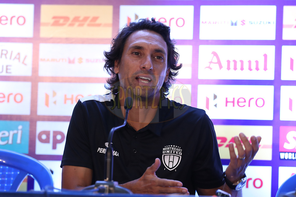 Joao Carlos Pires De Deus of Northeast United FC during post match press conference of match 6 of the Hero Indian Super League between Chennaiyin FC and NorthEast United FC held at the Jawaharlal Nehru Stadium, Chennai India on the 23rd November 2017<br /> <br /> Photo by: Suman Dasgupta  / ISL / SPORTZPICS