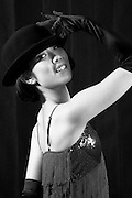 Portraits of a young Japanese female ballet and jazz dancer.