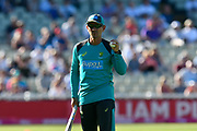 Australian head coach Justin Langer during the warm up before the International T20 match between England and Australia at Edgbaston, Birmingham, United Kingdom on 27 June 2018. Picture by Graham Hunt.