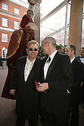 Sir Elton John and Neil Tenant, Ark Gala Dinner, Marlborough House, London. 5 May 2006. ONE TIME USE ONLY - DO NOT ARCHIVE  © Copyright Photograph by Dafydd Jones 66 Stockwell Park Rd. London SW9 0DA Tel 020 7733 0108 www.dafjones.com