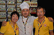 Vickie Koh, Jack Shi, Vincent Koh. Independent Grocers Festival of Food at the Convention Centre.