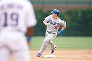 CHICAGO, IL - JUNE 25: Joc Pederson #31 of the Los Angeles Dodgers runs the bases during the game against the Chicago Cubs at Wrigley Field on June 25, 2015 in Chicago, Illinois. The Dodgers defeated the Cubs 4-0. (Photo by Joe Robbins) *** Local Caption *** Joc Pederson