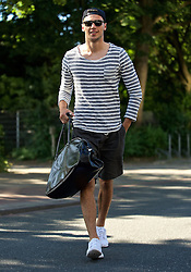 01.07.2015, Weserstadion, Bremen, GER, 1. FBL, SV Werder Bremen, Trainingsauftakt, im Bild Lukas Froede / Fr&ouml;de (SV Werder Bremen #39) auf dem Weg vom Parkplatz zur Kabine // during a Trainingssession of German Bundesliga Club SV Werder Bremen at the Weserstadion in Bremen, Germany on 2015/07/01. EXPA Pictures &copy; 2015, PhotoCredit: EXPA/ Andreas Gumz<br /> <br /> *****ATTENTION - OUT of GER*****