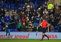 BIRKENHEAD, ENGLAND - Friday, January 4, 2019: Tottenham Hotspur's Fernando Llorente celebrates scoring the second goal during the FA Cup 3rd Round match between Tranmere Rovers FC and Tottenham Hotspur FC at Prenton Park. (Pic by David Rawcliffe/Propaganda)