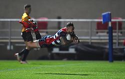 Tusi Pisi of Bristol Rugby scores a try - Mandatory by-line: Paul Knight/JMP - 22/12/2017 - RUGBY - Ashton Gate Stadium - Bristol, England - Bristol Rugby v Cornish Pirates - Greene King IPA Championship