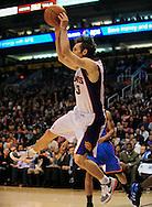Feb. 4, 2011; Phoenix, AZ, USA; Phoenix Suns guard Steve Nash (13) reacts on the court against the Oklahoma City Thunder at the US Airways Center. The Thunder defeated the Suns 111-107. Mandatory Credit: Jennifer Stewart-US PRESSWIRE.