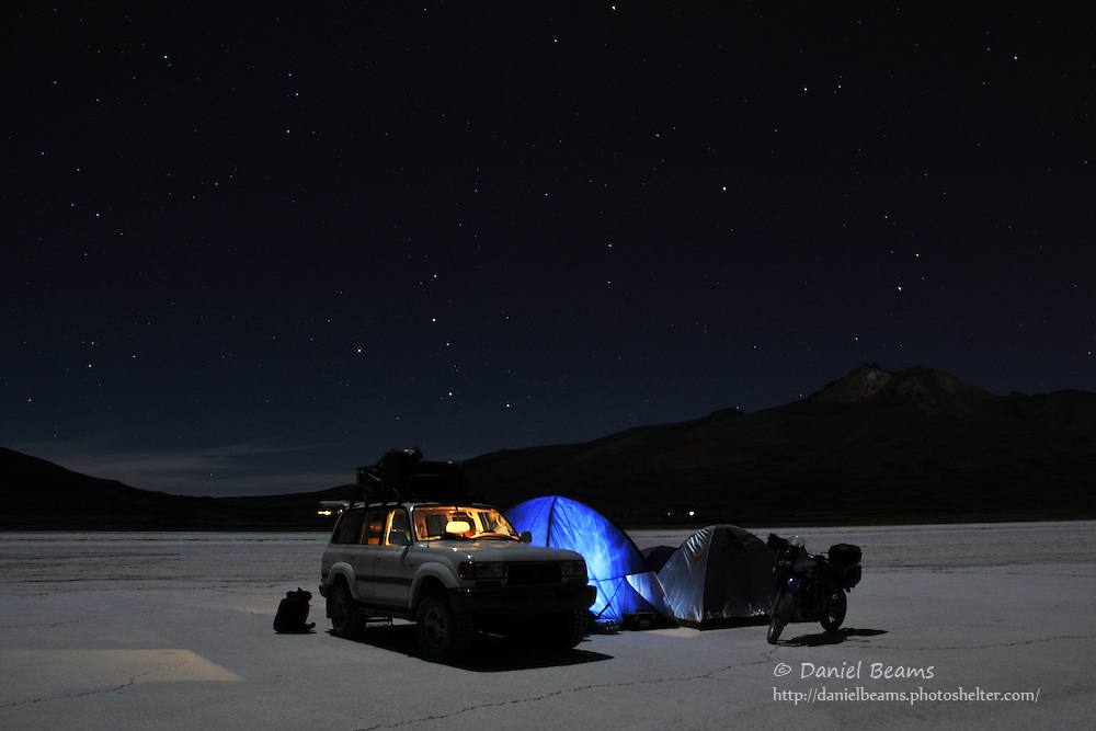 Camping on the Salar de Uyuni, Bolivia