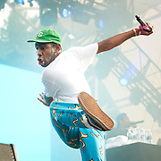 Tyler, the Creator in concert at the Pemberton Music Festival.  Pemberton BC, Canada