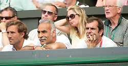 LONDON, ENGLAND - Wednesday, June 30, 2010: Mansour Bahrami and Henry Leconte watch during the Gentlemen's Singles Quarter-Final on day nine of the Wimbledon Lawn Tennis Championships at the All England Lawn Tennis and Croquet Club. (Pic by David Rawcliffe/Propaganda)