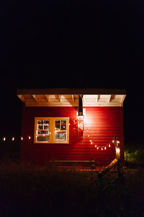 Cabin at Night, Vinalhaven, Maine.