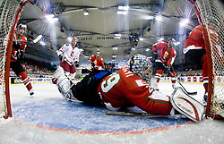 HETÉNYI Zoltan of Hungary  at IIHF Ice-hockey World Championships Division I Group B match between National teams of Hungary and Poland, on April 18, 2010, in Tivoli hall, Ljubljana, Slovenia. Hungary defeated Poland 6-0. (Photo by Vid Ponikvar / Sportida)
