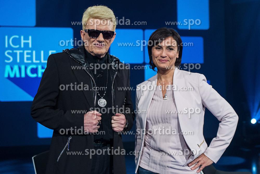 09.06.2015, WDR Studios, Koeln, GER, TV Show, Ich stelle mich, mit Heino, im Bild Heino (Heinz Georg Kramm) mit Sandra Maischberger // during Germans TV Show &quot;Ich stelle mich&quot; at the WDR Studios in Koeln, Germany on 2015/06/09. EXPA Pictures &copy; 2015, PhotoCredit: EXPA/ Eibner-Pressefoto/ Sch&uuml;ler<br /> <br /> *****ATTENTION - OUT of GER*****