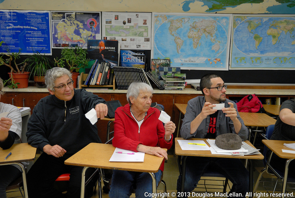 Windsor Essex Assembly, Session 2, at Holy Names High School. This was a workshop day, done in two groups. The groups came to gether at lunch and closing to discuss and exchange results.