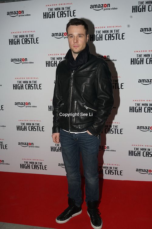 Rupert Evans attend the European Premiere of Season 2 of The Man in the High Castle, available on Amazon Prime video Friday December 16 2016 at Curzon Bloomsbury on 14th December 2016, London,UK. Photo by See Li