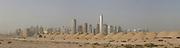 Dubai . .Dubai Recent development along  Sheikh Zayed Road entering Dubai from  Abu Dhabi.(composite panorama)