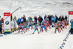 Start during Single Mixed Relay at day 1 of IBU Biathlon World Cup 2018/19 Pokljuka, on December 2, 2018 in Rudno polje, Pokljuka, Pokljuka, Slovenia. Photo by Ziga Zupan / Sportida
